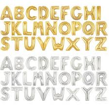balloon letters 16 inch betallic gold silver letter foil balloons a z from