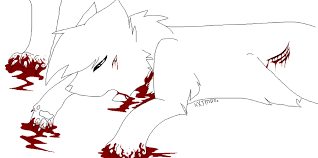 warrior cats coloring pages sad death lineart warrior cats by m0lten r0se on deviantart