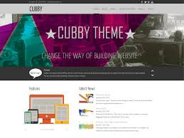bootstrap themes header cubby free wordpress themes