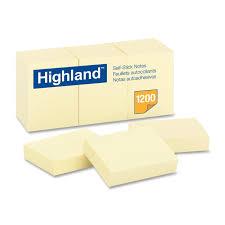 Stick Paper Amazon Com Highland 6539yw Self Stick Notes 1 1 2 X 2 Yellow