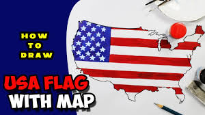 Usa Flag Photos Learn How To Draw United States Flag With Map Step By Step
