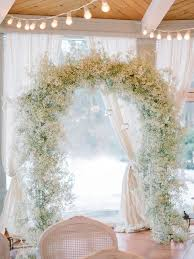 wedding arches how to make picture of baby s breath wedding arch with hanging candle holders