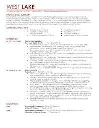Cable Installer Resume Sample by Cable Installer Resume Resume For Your Job Application