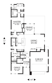 main floor plan of mascord plan 22174 the abbott spacious