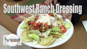 southwest ranch dressing taco salad youtube
