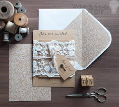 diy rustic wedding invitations how to make rustic kraft and lace wedding invitations imagine diy