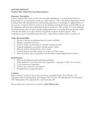 Sample Sales Representative Resume Patient Service Representative Resume Examples Sales