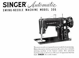 singer 306 swing needle instruction manual