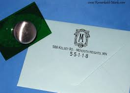 art deco monogram return address label personalized rubber address