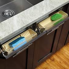 kitchen sink cabinet tray sink front tip out tray rev a shelf 6572 series 11 wide
