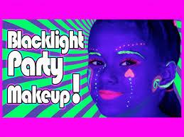 glow in the makeup blacklight uv makeup tutorial for glow kittiesmama
