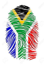 African Flag South African Flag Fingerprint Stock Photo Picture And Royalty