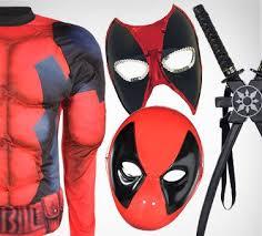 Deadpool Halloween Costume Kid Superhero Masks Capes Gloves U0026 Accessories Party