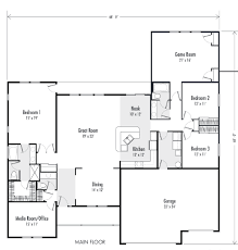 custom home plan 3 ranch style custom home plans 2 000 square
