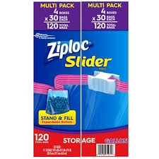 ziploc storage slider gallon bags 120 ct sam s club