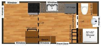 8 X 20 House Plans Homes Zone Floor Plan Tiny House