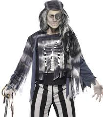 Ghost Halloween Costume Men U0027s Ghost Halloween Costume Ghostly Pirate Fancy Dress Costume