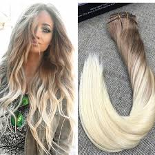 balayage hair extensions 9 pcs balayage brown to clip in human hair extensions 8 8