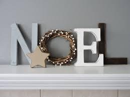 noel wood letters christmas decor rustic wood noel sign