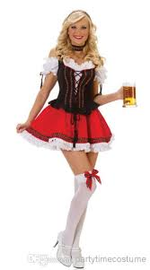 Peacock Halloween Costume Girls German Beer Maid Oktoberfest Halloween Fancy Dress