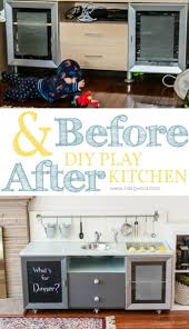 20 best play kitchen ideas images on pinterest play kitchens before after of our diy play kitchen i m also sharing tips and