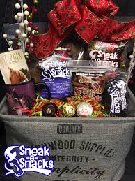 custom gift basket custom gift baskets sneak e snacks