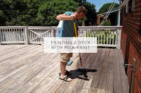 painting a deck with milk paint miss mustard seeds milk paint