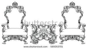 chairs furniture classic set rich baroque stock vector 405551620