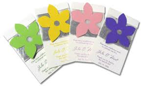 seed packet favors wildflower seed packet favor