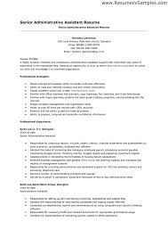 Senior Resume Examples by Examples Of Administrative Assistant Resumes Great Administrative