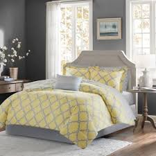 Yellow And Grey Bed Set Buy Yellow Comforters California King From Bed Bath Beyond