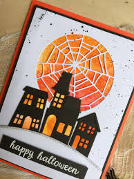 orange halloween ribbon background outside the box