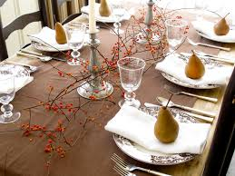 Thanksgiving Table Setting by Jenny Steffens Hobick Thanksgiving Table Pears Bittersweet