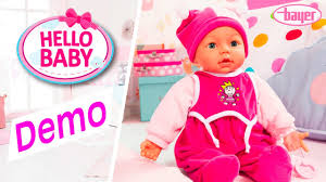 bayer design puppe hello baby doll puppe demo bayer design