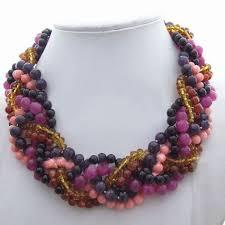 purple crystal stone necklace images Purple crystal stone necklace jpg