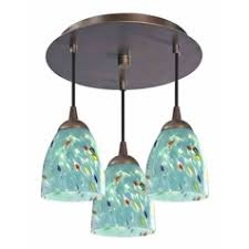 Turquoise Glass Pendant Light Art Glass Pendant Lights Art Glass Chandeliers