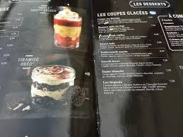au bureau beauvais voici la carte il y a des restes de nourriture colles picture of