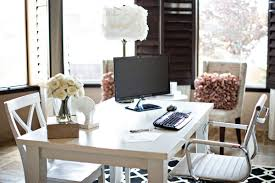 Modern White Office Table Home Design Home Office Decorating Ideas For Women Cabin Basement