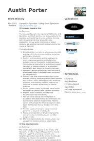Sample Resume For Mainframe Production Support by Computer Operator Resume Samples Visualcv Resume Samples Database
