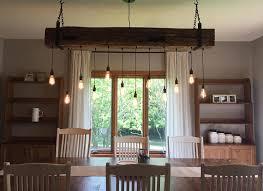 rustic beam light fixture rustic chandelier 60 reclaimed barn beam light fixture