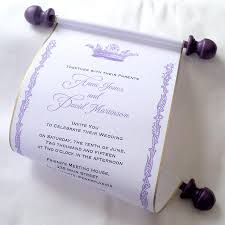 Scroll Invitation Royal Wedding Invitation Paper Scroll Invitation Crown