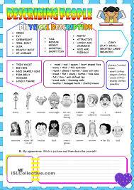 describing people learning english pinterest printables