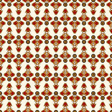 bright seamless pattern with repeated geometric forms ornamental