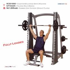 new body solid scb1000 smith machine gfid225 bench 255 lb
