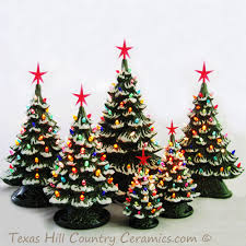 christmas tree with snow drifting snow ceramic christmas tree 18 green base color