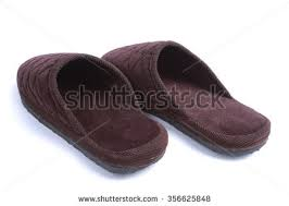 Mens Leather Bedroom Slippers by Brown Mens House Slippers Stock Photo 43448746 Shutterstock