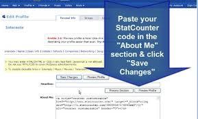 statcounter on myspace statcounter