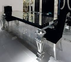 Black Glass Dining Table Foter - Black glass dining room sets
