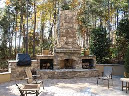 how to build a stone fireplace outside good home design unique