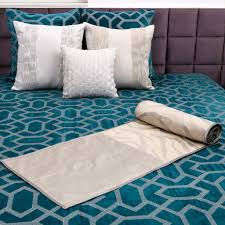 buy metallic grill aqua bay embroidered and quilted velvet bed